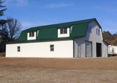Gambrel green and White 2 2